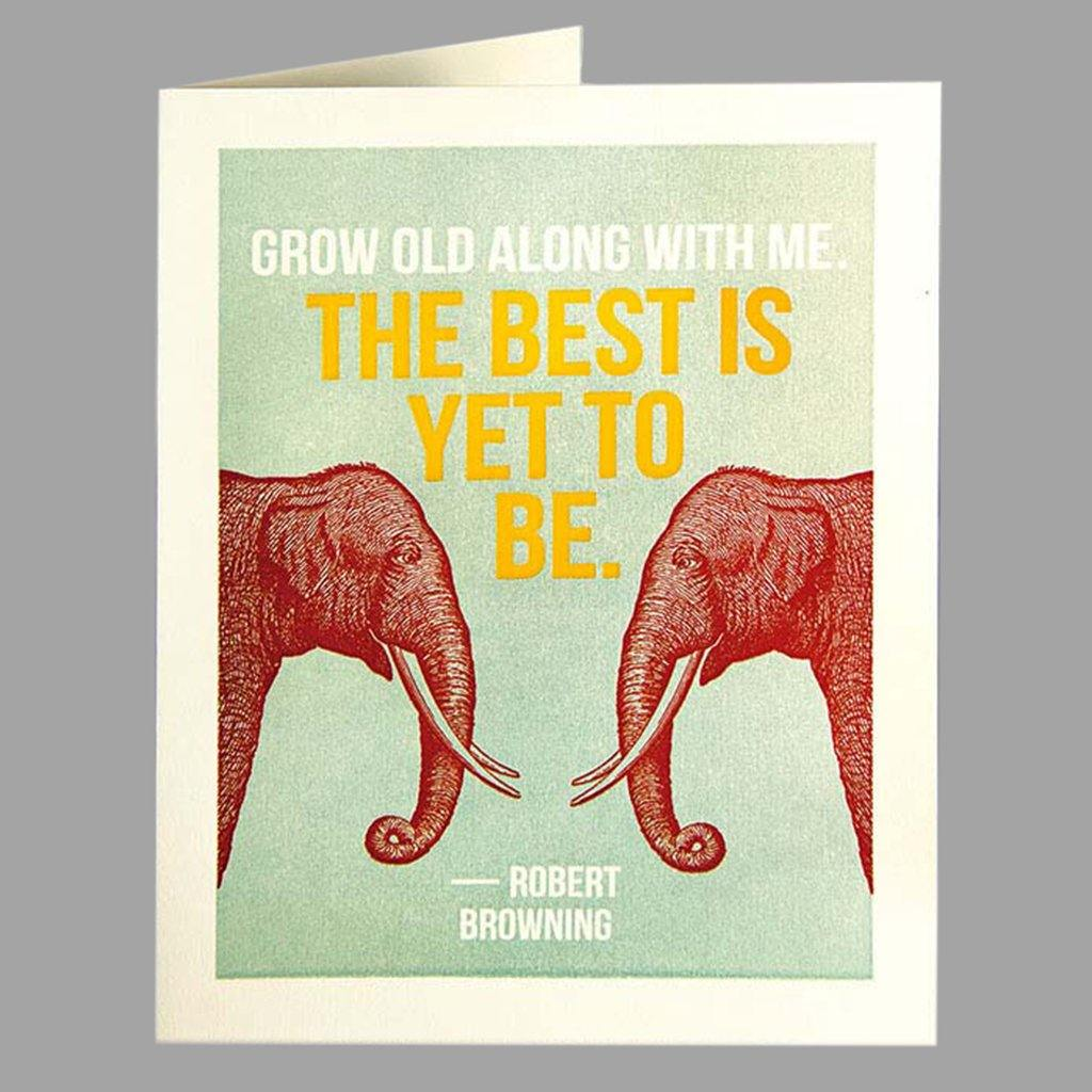 Grow Old Card, Gift Giving by Insideout