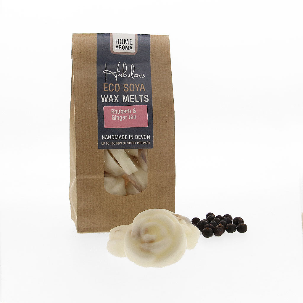 Rhubarb & Ginger Gin Eco Soya Wax Melts Pack, Raw Candle Wax by Insideout