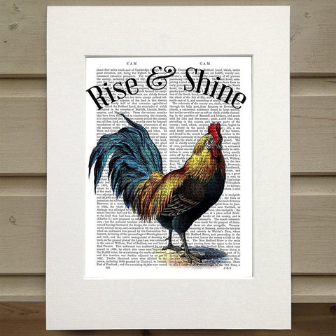 Rise And Shine Rooster Print - insideout-home