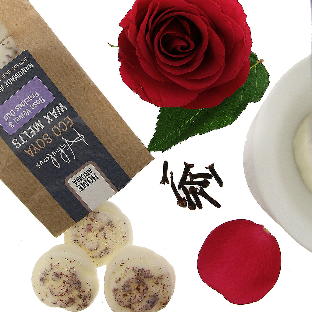 Rose Velvet & Precious Oud Eco Soya Wax Melts Pack by  Insideout