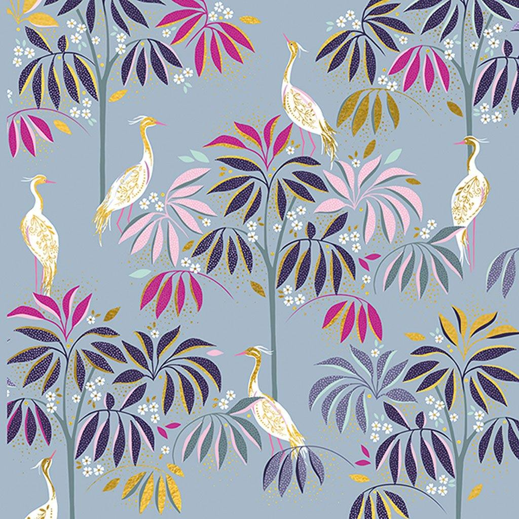 White Herons & Plants Card, Arts & Crafts by Insideout