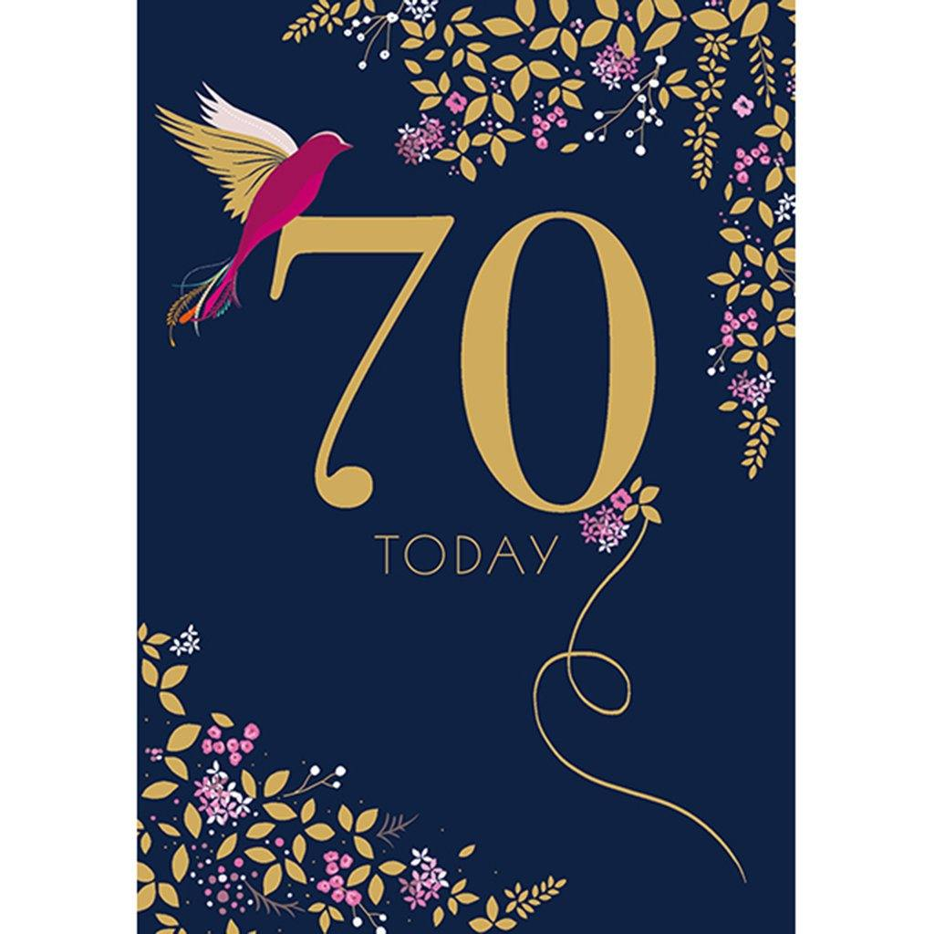 70th Birthday Card, Party & Celebration by Insideout