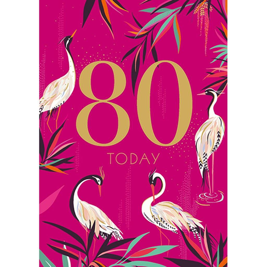 80th Birthday Card, Party & Celebration by Insideout