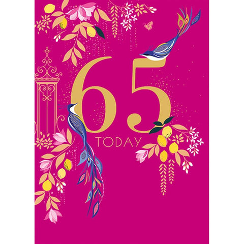 65th Birthday Card - insideout-home