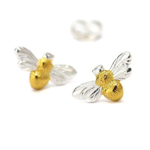 Sterling Silver And Gold Bee Earrings - insideout-home