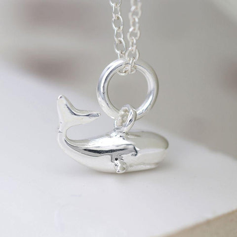 Sterling Silver Whale Necklace - insideout-home
