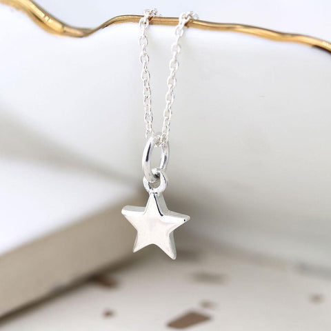 Sterling Silver Tiny Star Necklace - insideout-home