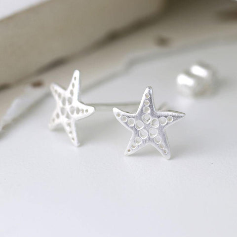 Sterling Silver Dotty Starfish Earrings - insideout-home