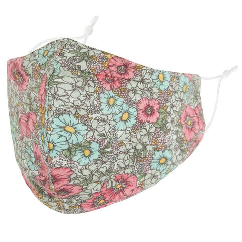 Face Mask Light Blue Floral - insideout-home