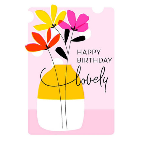 Happy Birthday Flowers & Vase Card - insideout-home