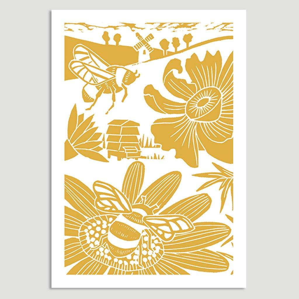 Bees & Flower Card, Art & Crafting Materials by Insideout