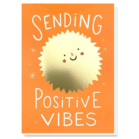 Positive Vibes Gold Foil Card - insideout-home