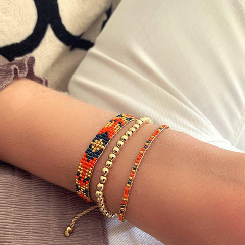 Blackstar Bracelet Orange - insideout-home