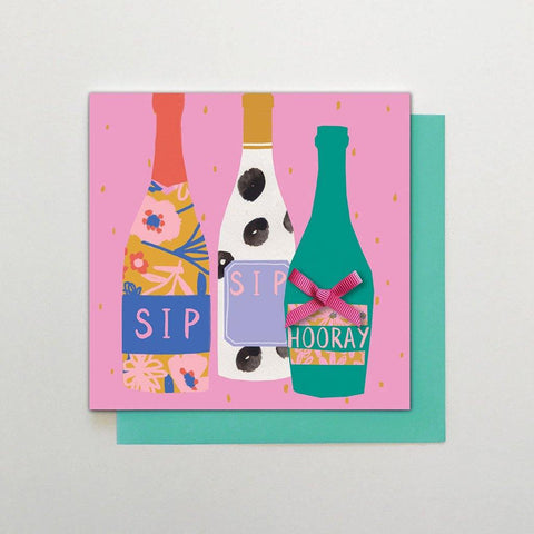 Sip Sip Hooray Bottles Card - insideout-home