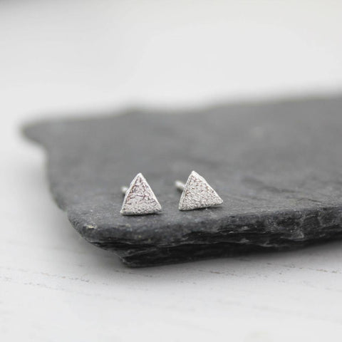 Silver Mini Triangle Studs - insideout-home