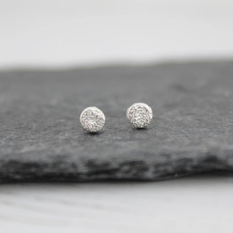 Silver Mini Circle Studs - insideout-home