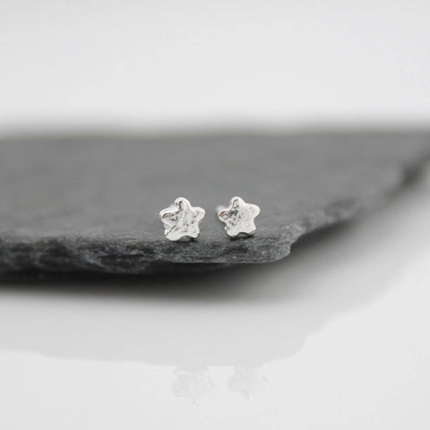 Silver Mini Flower Studs - insideout-home