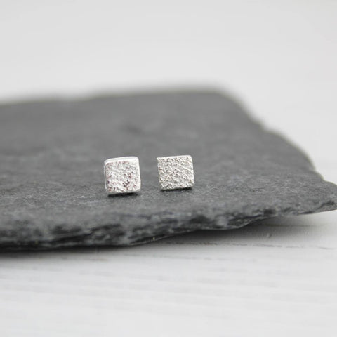 Silver Mini Square Studs - insideout-home