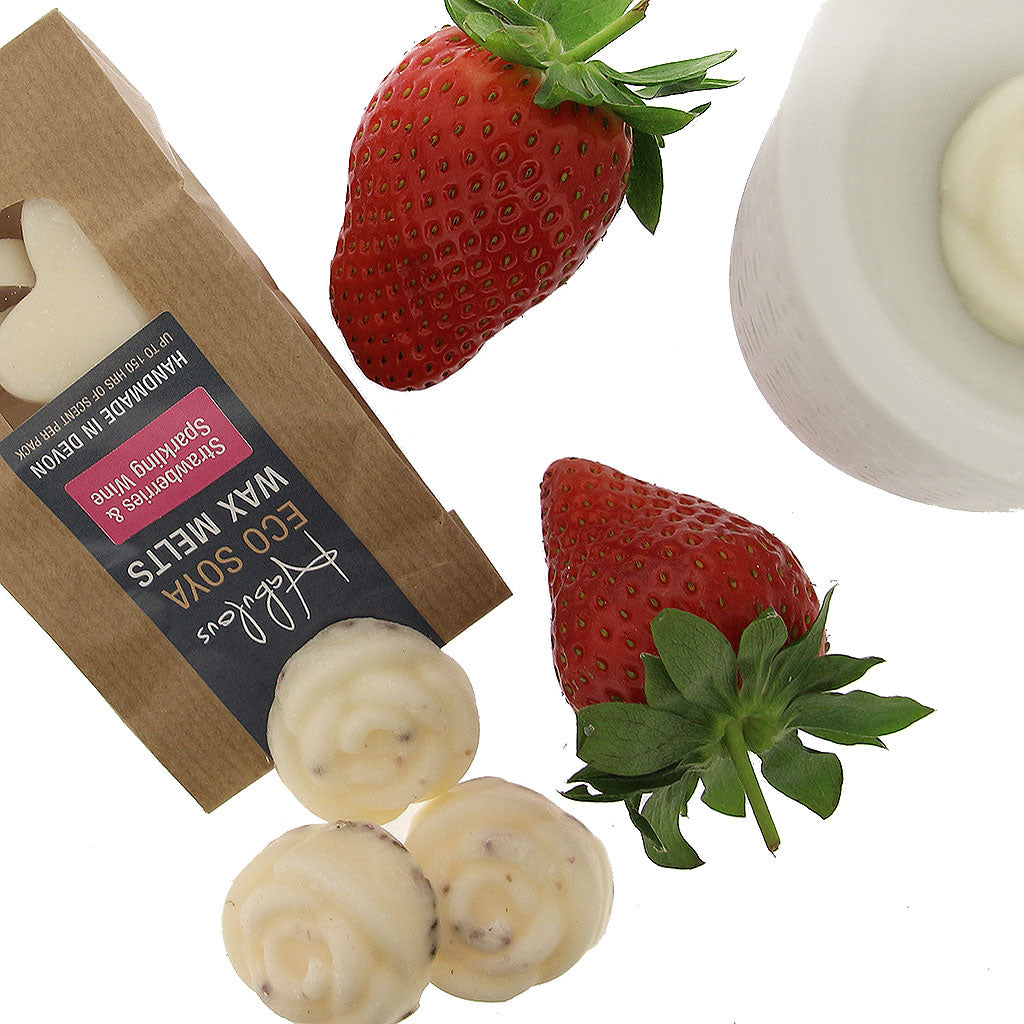 Strawberries & Sparkling Wine Eco Soya Wax Melts Pack by  Insideout