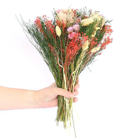 Dried Wildflower Sorriso Mixed Bouquet Pink - insideout-home