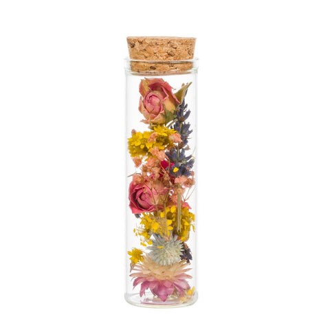Mini Wish Bottle With Seasonal Dried Flowers - insideout-home