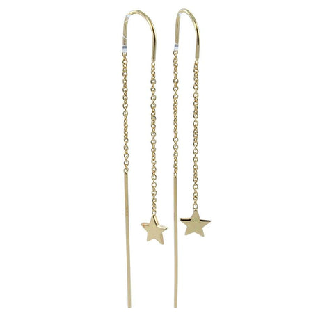 Gold Vermeil Star Finesse Drop Earrings - insideout-home