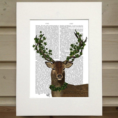 The Green King Deer Stag Print - insideout-home