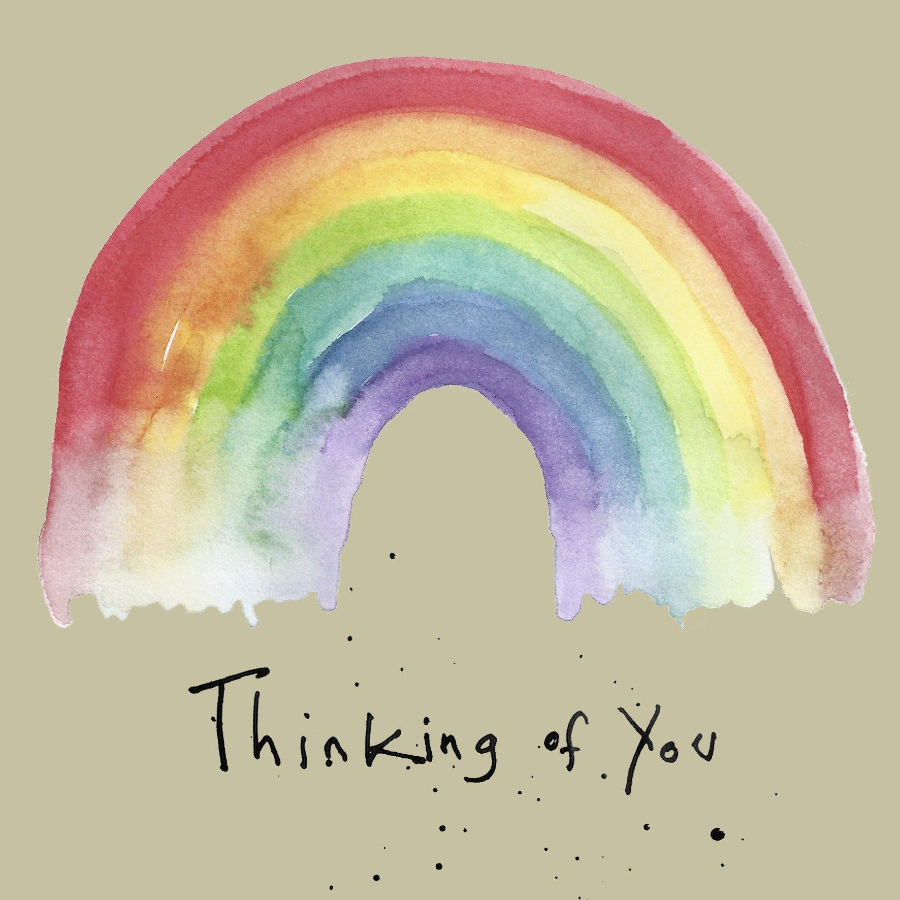 Thinking Of You Rainbow Card by  Insideout