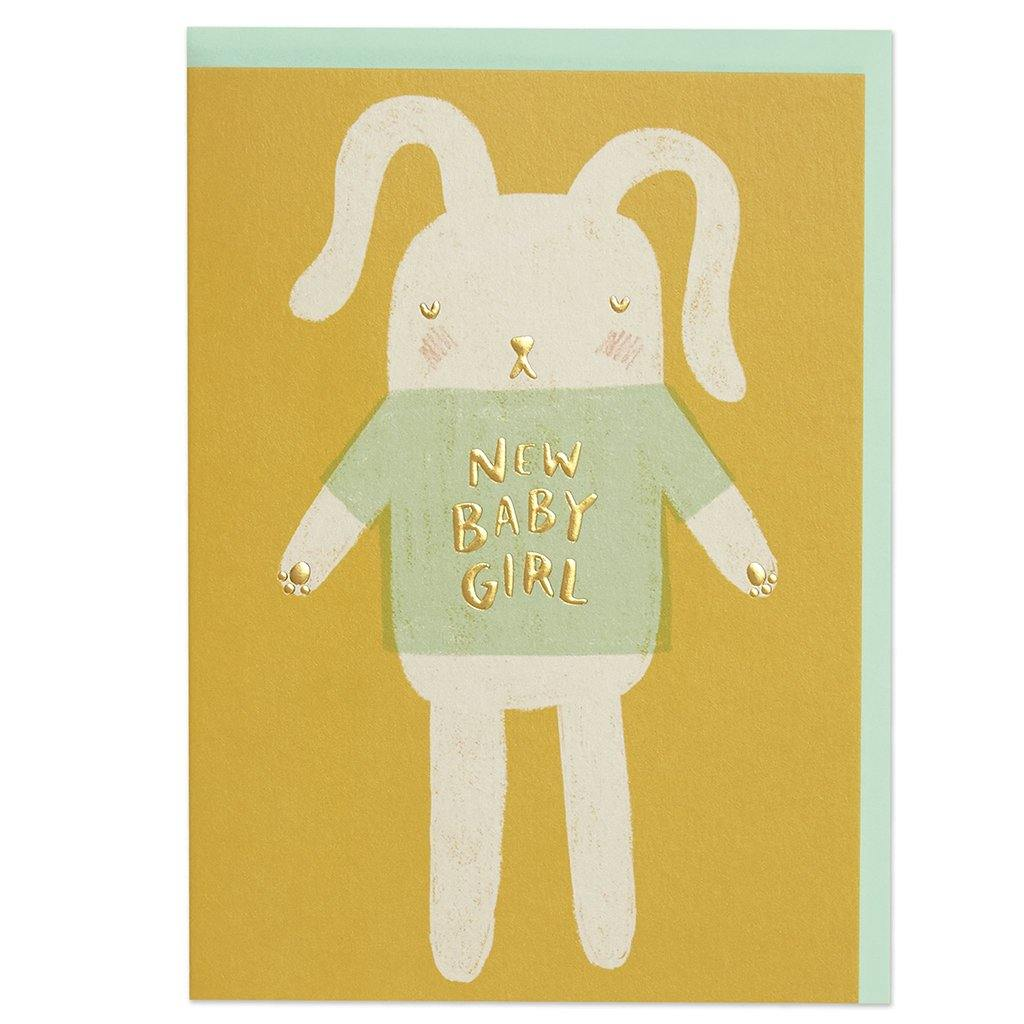 New Baby Girl Card, Greeting & Note Cards by Insideout