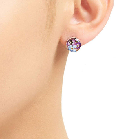 Mixed Flower Round Stud Earrings - insideout-home