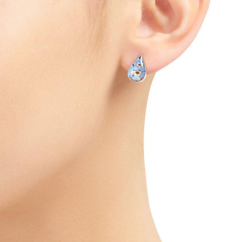 Forget Me Knot Teardrop Stud Earrings