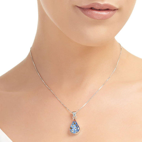 Medium Forget Me Knot Teardrop Pendant