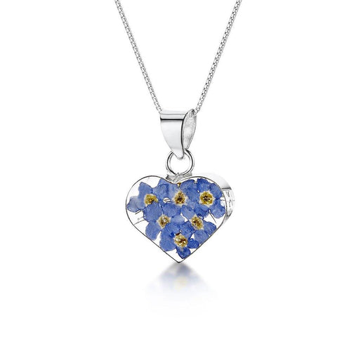 Medium Forget Me Knot Heart Pendant