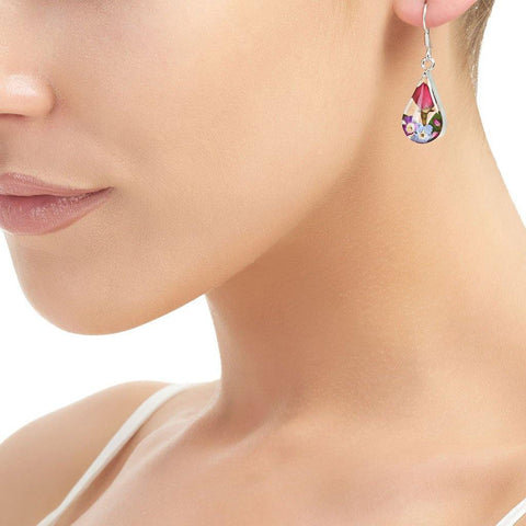 Teardrop Mixed Flower Hook Earrings - insideout-home