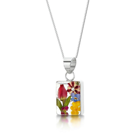 Mixed Flower Rectangular Pendant - insideout-home