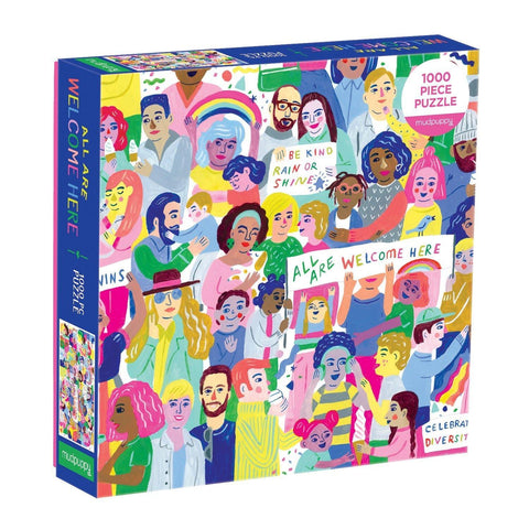 All Are Welcome Here Jigsaw Puzzle 1000 Pieces - insideout-home