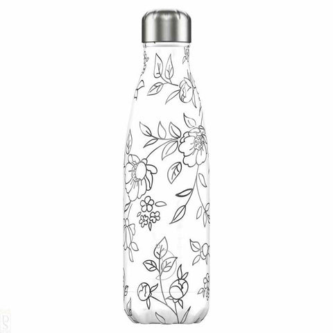 Chilly's Bottle Line Art Flowers 500ml - insideout-home