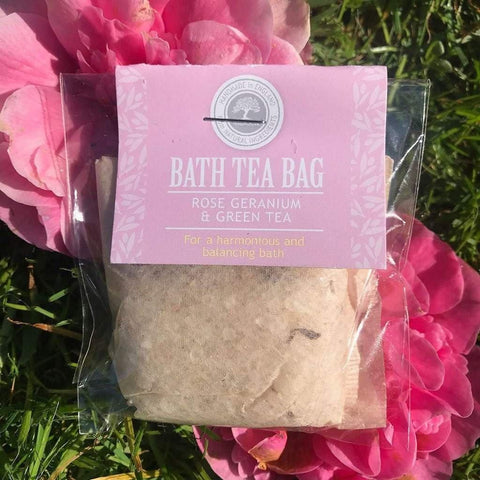 Bath Tea Bag Rose, Geranium & Green Tea