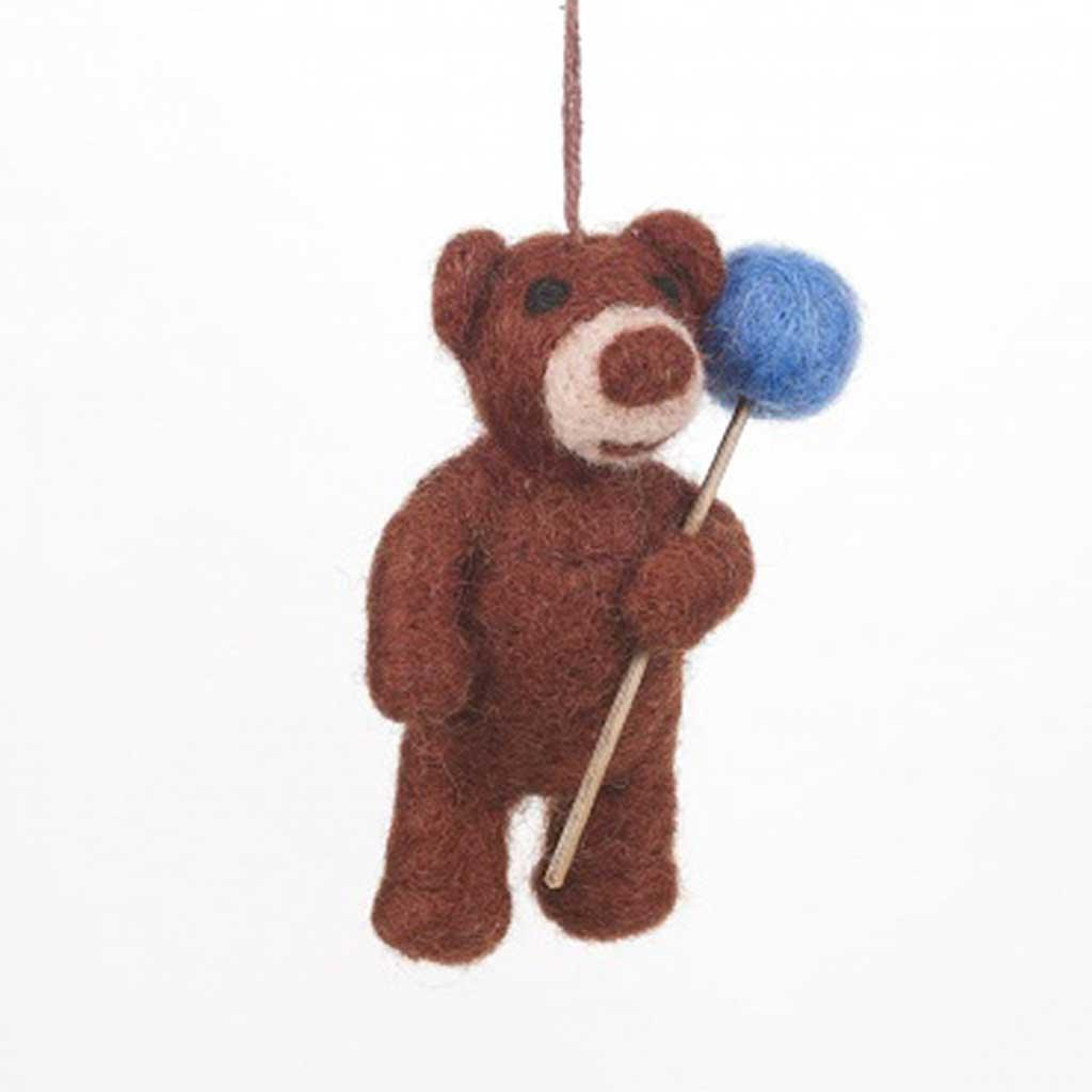 Bear With Balloon Felt Hanging by  Insideout