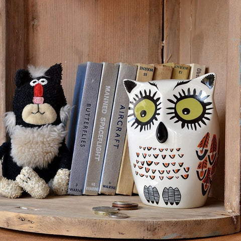 Owl Money Box Yellow