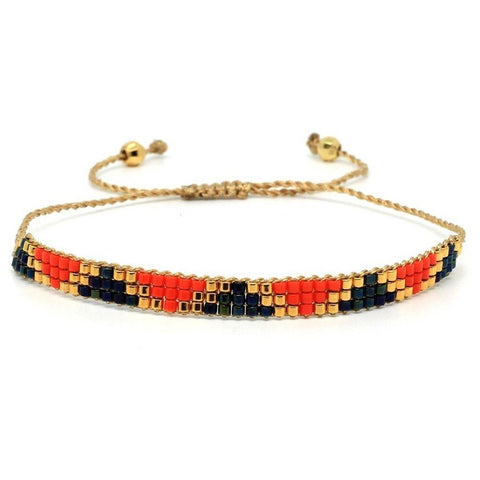 Blackstar Bracelet Orange 3 Row - insideout-home