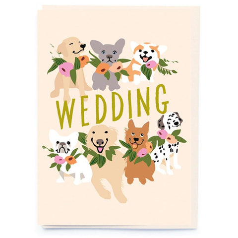 Dog And Wedding Flowers Card - insideout-home