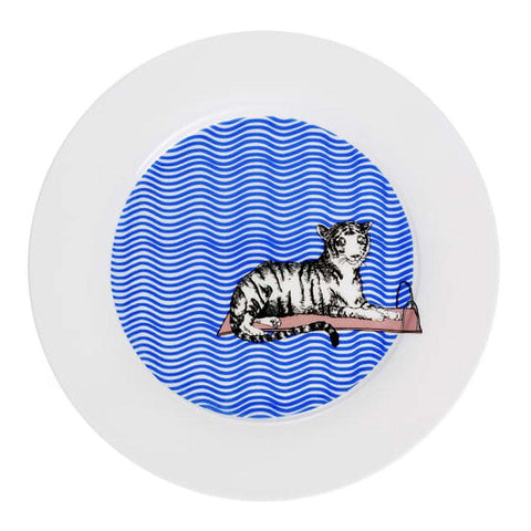Tiger Swims Dinner Plate - insideout-home