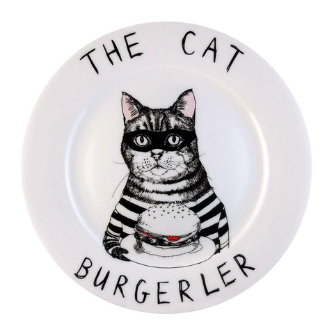 The Cat Burgerler Side Plate - insideout-home