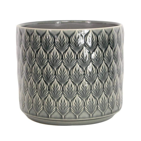 Charcoal Leaves Planter Pot - insideout-home