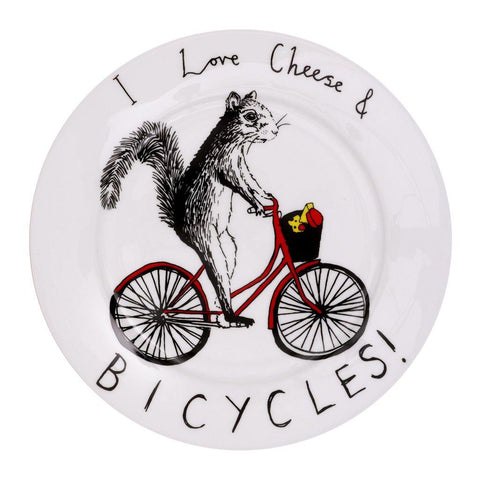 Cheese & Bicycles Side Plate - insideout-home