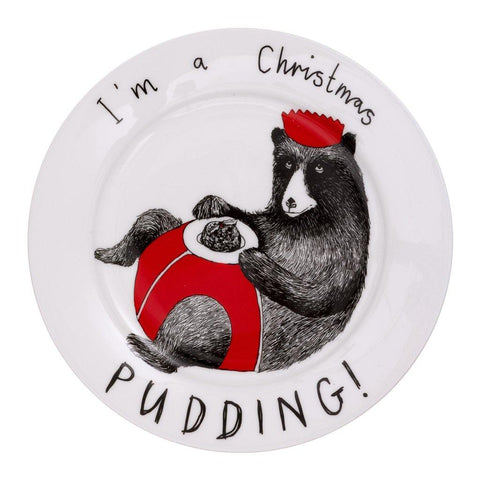 I'm A Christmas Pudding Side Plate - insideout-home