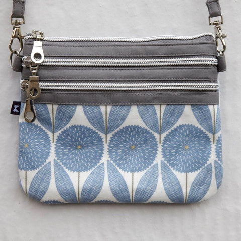 Spring Oil Cloth Pouch Bag Cornflower Blue - insideout-home