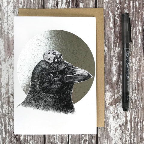 Crow & Ladybird Foiled Card