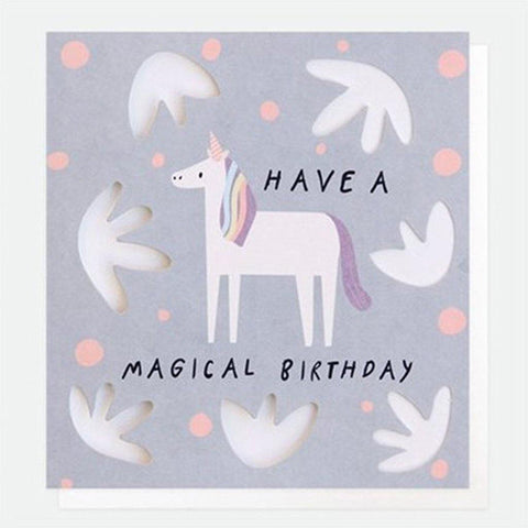 Unicorn Birthday Card - insideout-home
